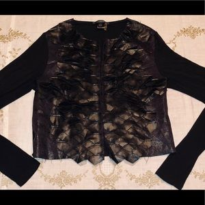 CARIBBEAN QUEEN EDGY BLACK JACKET FAUX LEATHER S